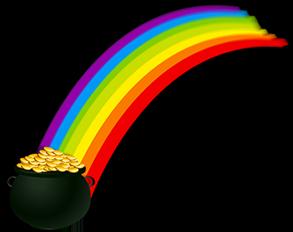 Gold Am Ende Des Regenbogens